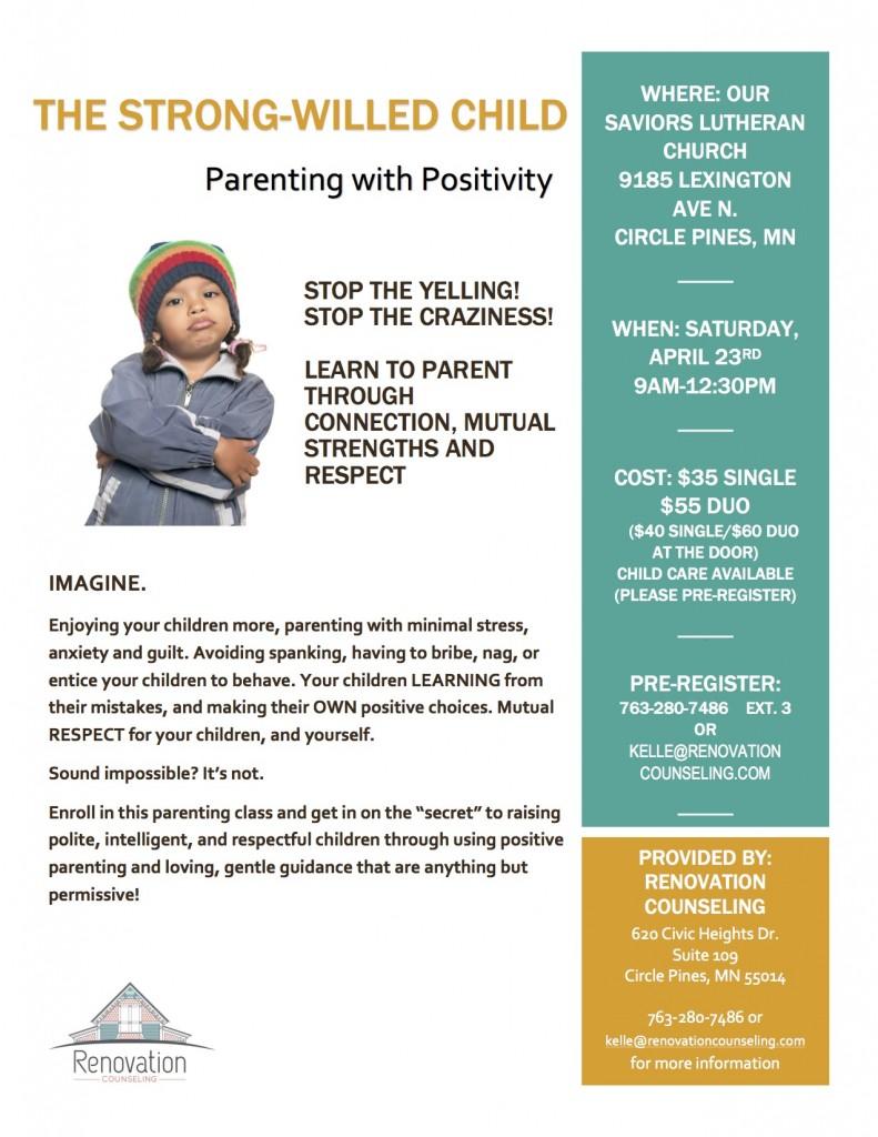parenting class flyer